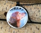 Custom Dog Necklace made from your photo on polymer clay