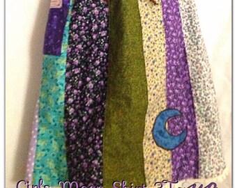 Girls Skirt, Grateful Dead Skirt, Calico Stripe Skirt, Festival Skirt,Handmade Hippie Patchwork Skirt,Toddler skirt,2t,3t,4t,5t Phatcatpatch