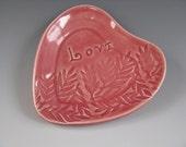 Heart Shaped Trinket Tray Rosy Pink Love