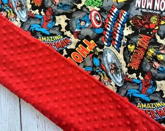 The Avengers Minky Baby Blanket
