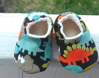 Dinosaur Baby Shoes, Baby Slippers, Baby Boy, Baby Shoes, Soft Sole Shoes, Baby Shower