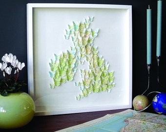 British Isles Butterfly Map