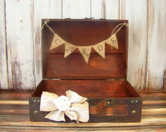 Rustic Wedding Card Box / Advice Box Wooden