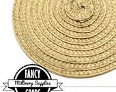1 - Beige - Straw - Fascinator - Hat Base - Hat Disk - Hat Foundation - Millinery