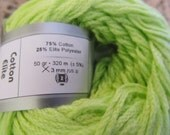 Ice Yarn Cotton Elite, Lime Or Chartreuse