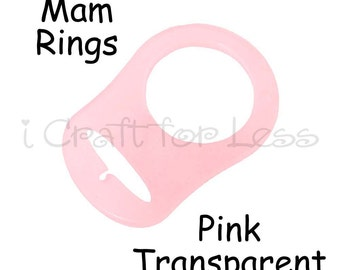 1 Mam Ring - Button Style Pacifier Clip Adapter - Pink Silicone BPA Free - SEE COUPON