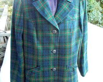 Vintage Pendleton Tartan Pantsuit sz 31 waist offered AS it IS