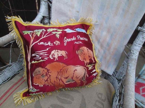 30s Buffalo pillow Western home decor Home decor by