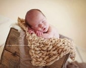 Reserved for Maycil: Mint colored Knit mini blanket layering piece photography prop in fawn