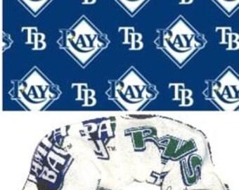 2 Tampa bay Devil Rays Baseball Fabric Hair Scrunchie Scrunchies by Sherry MLB Baseball Cotton