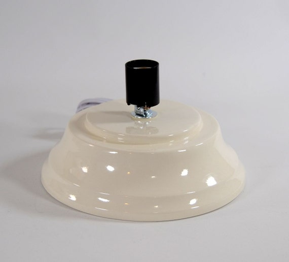 Replacement Ceramic Christmas Tree Base Concave Plain White