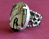 Sale 20% Off // AUTUMN KISS Ring - Silhouette Jewelry // Coupon Code SALE20