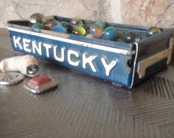 Kentucky License Plate Tray - Rustic Storage Box - Planter - Free Shipping