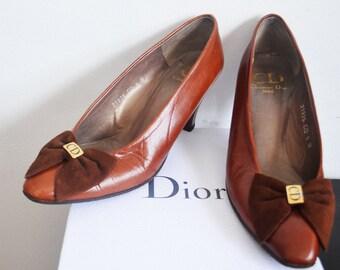 Vintage Christian Dior shoes -vintage CD pumps 6B