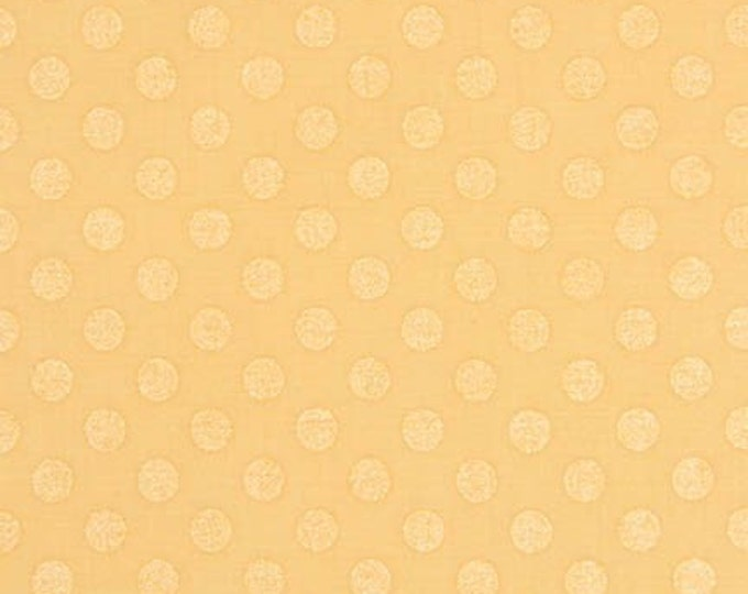 Spot On Pearl Polka Dots, metallic fabric by Robert Kaufman- Spot On Medium Dot in Buttercup- Fat Quarters, Half Yards or Yardage