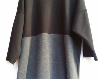 Grey and black woman jersey shirt