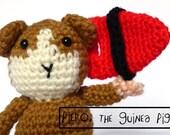 Guinea Pig Amigurumi Pattern - Guinea Pig Lifeguard Crochet Pattern - PDF
