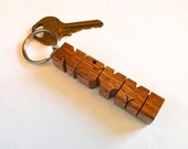 Alexandrian Laurel Wood Name Keychain - Carved to Order