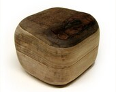Kamichak - Stone or Rock shape Rustic Natural Wooden Ring Box by Tanja Sova