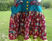 ON SALE 12M Gnome Knot Dress