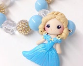 Creme de la gems disney inspired princess chunky necklace