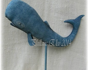 Fish, WHALE, Nuncio, Primitive, Folk Art, Doll, E Pattern By Whimsical Endeavors