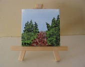 Original Mini Acrylic Painting - Forest Path