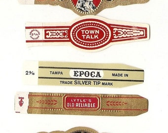 270 CIGAR BAND Labels -new old stock cigar bands lithographed in 1930 ++++. There are 10 each of 27 designs.