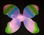 Pastel Rainbow Wings - Medium - Gorgeous Detailing - Girls Photo Prop - Fairy Wings for Toddler