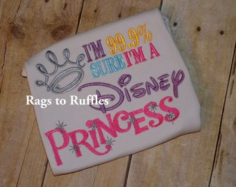 Disney Princess Ruffled t shirt