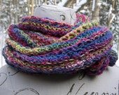hand knit mobius cowl wrap