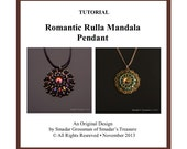 Beading Tutorial Romantic Rulla Mandala Pendant. Pattern with Two Hole Rula Rulla Beads. Beadweaving Instructions, Beadwork PDF File Pattern