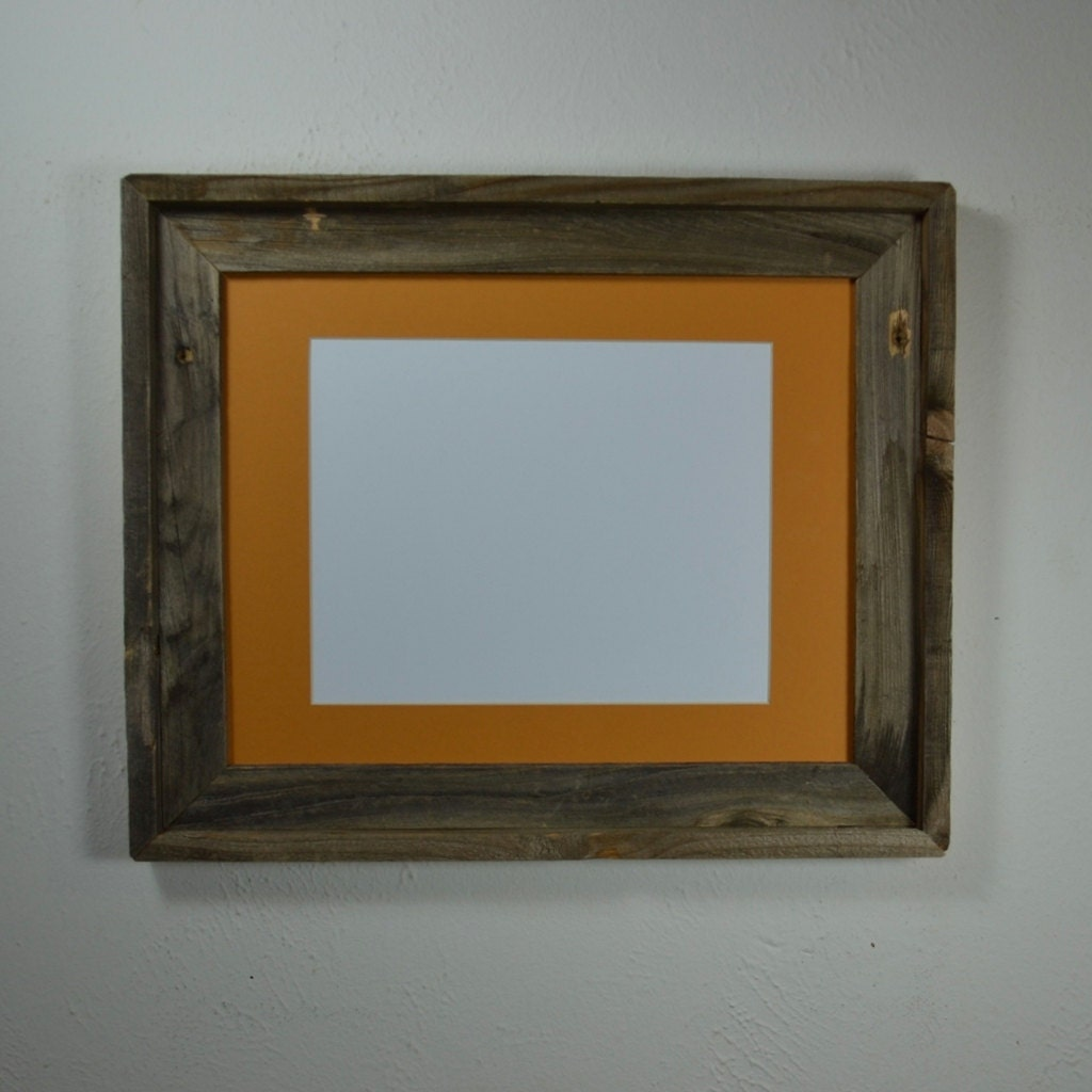 Barnwood Frame 11x14 With Mat For 8x10 Or 9x12 Or 8x12