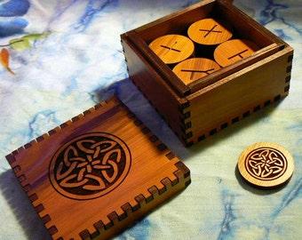 Celtic Knot Cedar Oghams Box Set