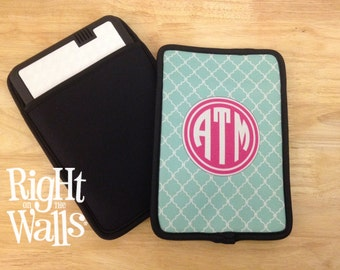 Kindle Case Custom Printed with Your Monogram - Personalized Case - Kindle - Kindle Fire - iPad - DVD player