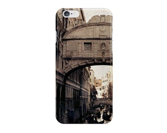 Merchant of Venice - Bridge of Sighs (Italy travel photo iPhone case skin Samsung Galaxy case skin, romantic gondola eerie beige brown)
