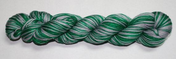 Slytherin Self Striping Hand Dyed Sock Yarn