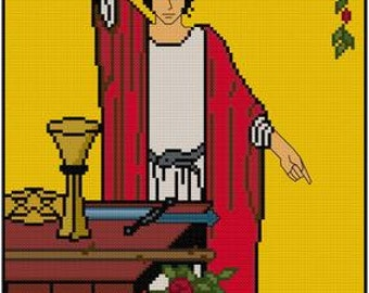 The Magician tarot card cross stitch pattern PDF Major Arcana