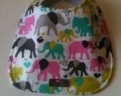Baby Bib Second Item Ships Free. - Elephants  10 x 12.5
