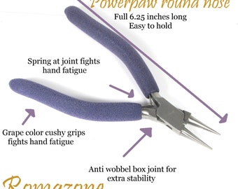 PowerPaw Ultimate Round Nose Pliers 6.5 inches f your fed-up with toy pliers, these are for you.