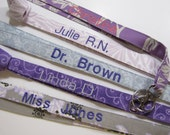 Personalized Lanyards, Names on Lanyards, Teacher Lanyard,Teacher Gift Nurse Lanyard, School Name on Lanyard, 15 Letters , Chevrons