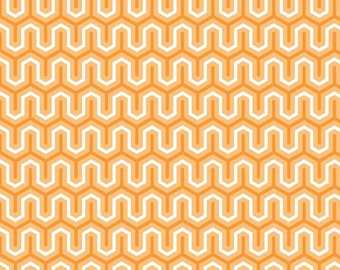 1 yard Orange Simply Sweet Zig Zag fabric by Riley Blake