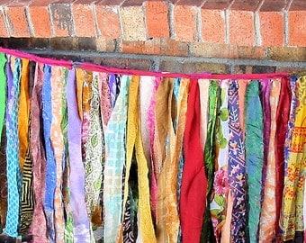 Gypsy Fringe Sari Exotic Flag Garland