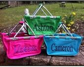 Monogrammed Mini Market Basket - Diaper Caddy or Diaper Tote