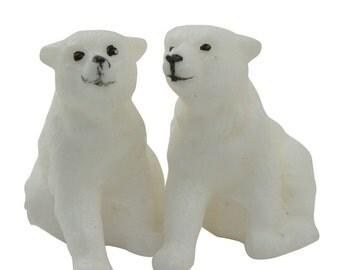 Polar Bear Cubs - Set of 2 - German Old Stock - IV3-2417