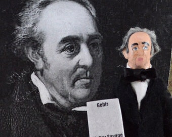 Walter Savage Landor Poet Writer Author Doll Miniature Historical Art