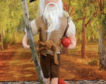 Johnny Appleseed Historical Doll Miniature Art by Uneek Doll Designs