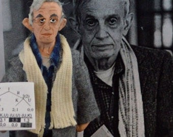 John Forbes Nash Jr. Mathematician Gift Unique Art Doll Collectible Figure