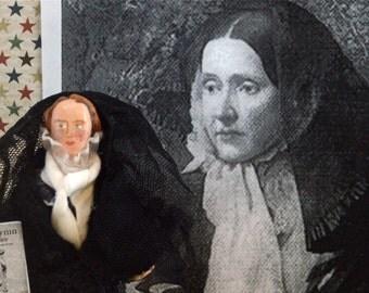 Julia Ward Howe Doll Miniature Historical Women Battle Hymn of the Republic