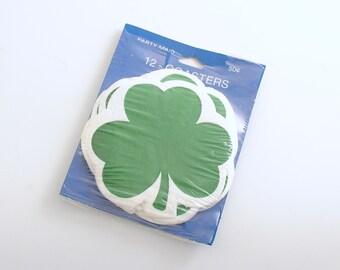 Vintage St Patricks Day Shamrock Coasters